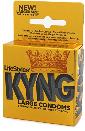 Siam Circus 3 PACK OF LIFESTYLES KYNG LARGER COMFORT FIT CONDOMS