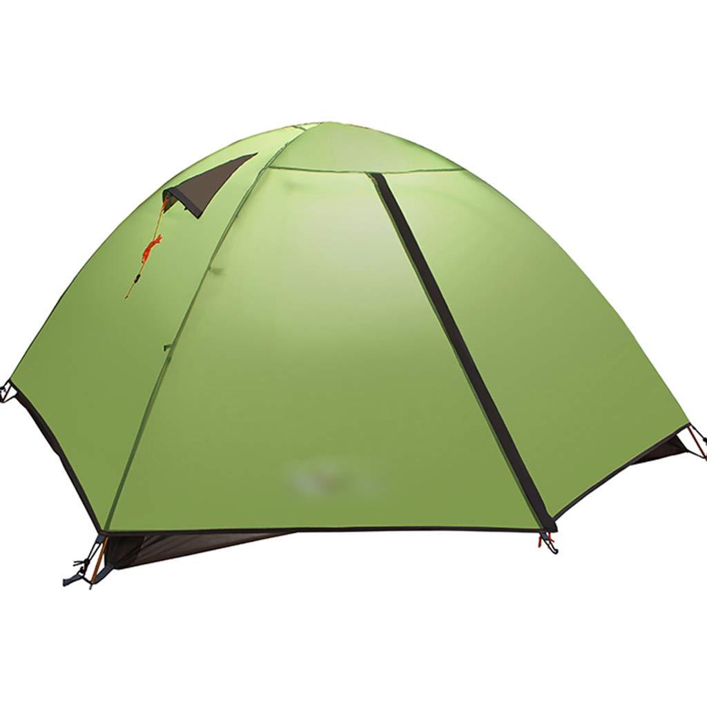 YaNanHome Im Freien Zelt des Zelts des Zeltes des Zeltes Starkes regendichtes Breathable Zelt 2-3 Leute verbinden Zelt Vier Jahreszeitzelt (Farbe : Grün, Größe : 210  180  115cm)