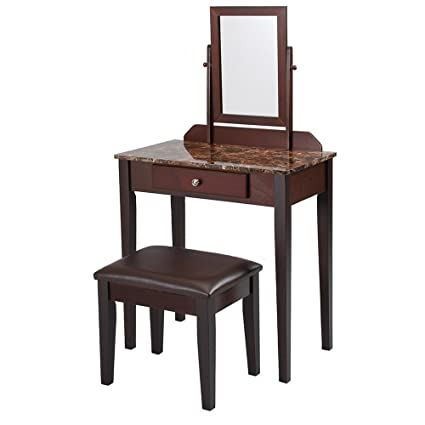 Amazon Com Bs Vanity Makeup Table Set Dressing Table Hairdressing