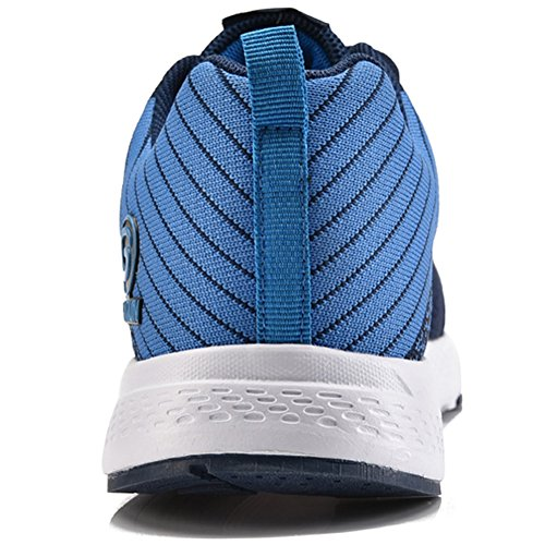 Running Dark Sky shoes Tennis Men Sport Athletic Walking Lace Blue Mesh Shoes up GUBARUN Blue Lightweight Casual Sneakers Women RxZw151qp