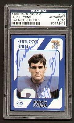 Dicky Lyosns igned 1989 Kentucky's Finest PSA Slabbed