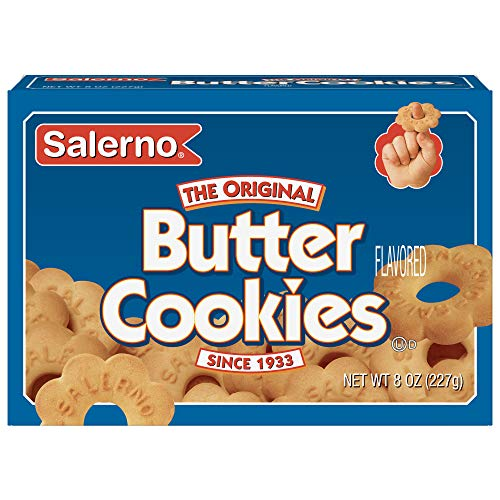 Salerno Cookies, The Original Butter Cookies, 8 Ounce