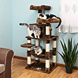 why SONGMICS Cat Tree Condo Multi-Level Kitty Play House Sisal Scratching Posts Tower Brown UPCT15Z