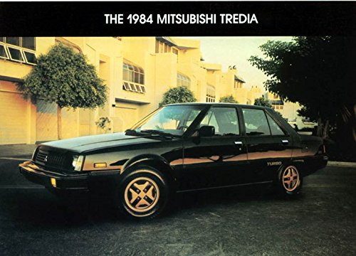 1984 Mitsubishi Tredia Original Large Factory Postcard At Amazon S