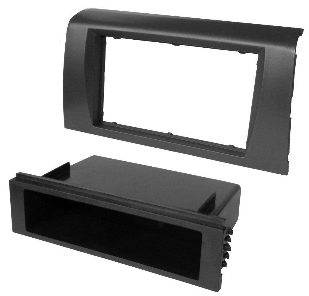 Aerzetix - Mascherina adattatore autoradio telaio 1 DIN o doppio 2 DIN . SK2-C11643-A137