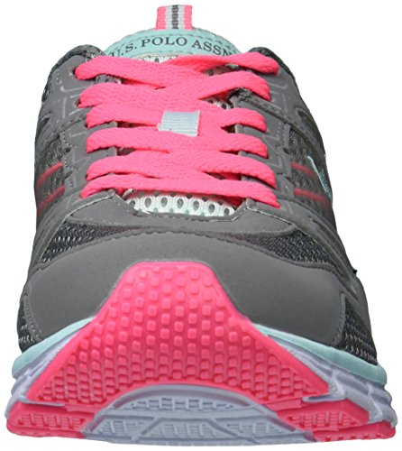 U.S. Polo Assn. Womens Priya Oxford Dark Grey/Mint/Hot Pink yH8PPzl