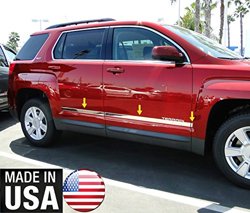 Made In USA! Works With 2010-2017 GMC Terrain Accent Body Side Molding Trim 1 1/2'' Wide 6PC - 1 1/2' Wide Trim