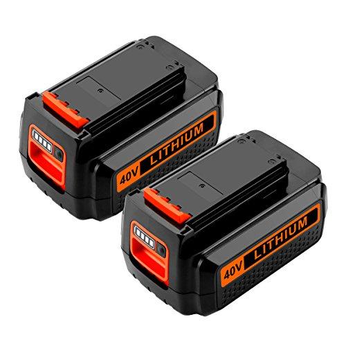 (ANTRobut 2200mah 40V LBXR2036 Lithium MAX Replacement Battery for Black & Decker LBX2040 LBX36 LBXR36 Black and Decker 40 volt Battery(2Pack))
