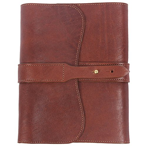 Leather Writing Journal Notebook Brown Refillable Unlined Pages USA Made No. 9 by Col. Littleton