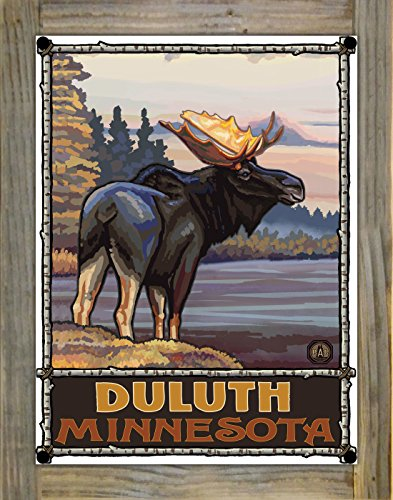 Duluth Minnesota Metal Print on Reclaimed Barn Wood by Paul A. Lanquist (9