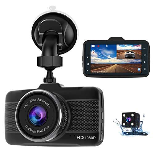 Dash Cam Front and Rear Claoner FHD 1080P Dual Dash