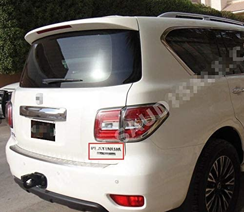 Chrome Rear TrunkPlatinum Badge Sticker Trim for Nissan Patrol Y62 2011-2015