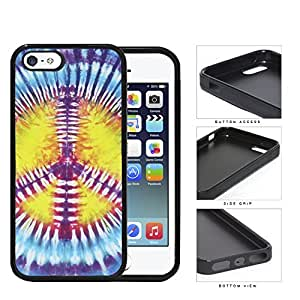 Colorful Peace Sign Tie Dye Pattern Hard Rubber TPU Phone Case Cover iPhone i5 5s