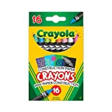 Crayola Construction Paper Crayons, School and Craft Supplies, Gift for Boys and Girls, Kids, Ages 3,4, 5, 6 and Up, Holiday Toys, Stocking Stuffers, Arts and Crafts