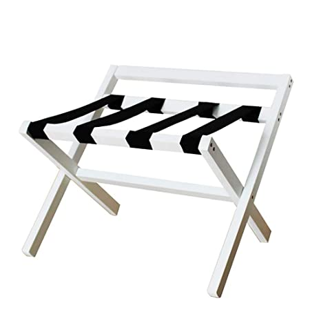 cb2cca519982 Amazon.com: XLJ-YJ Room Luggage Rack, Wooden Folding Luggage Rack ...