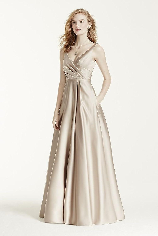 Long satin tank ball gown bridesmaid dress style f15741 at amazon long satin tank ball gown bridesmaid dress style f15741 at amazon womens clothing store ombrellifo Choice Image