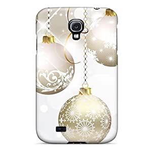 Unique Design Galaxy S4 Durable Tpu Case Cover Christmas Silver Gold