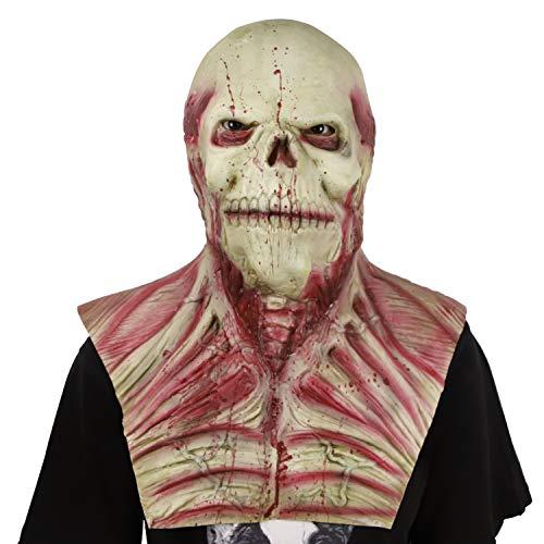 Waylike Scary Creepy Halloween Mask for Adults Cosplay Costume Party Head Mask ()