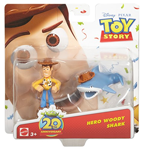 Disney/Pixar Toy Story 20th Anniversary Woody and Shark Figure Buddy 2-Pack