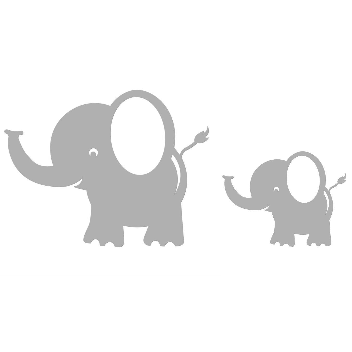 Amazon.com : Elephant Wall Decals, Room Decorations, Light Grey, 5 ...