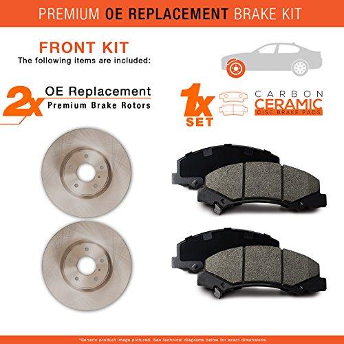 Front Brake Disc Rotor For Kawasaki KLF 300 KLF400 Bayou KVF300 400 Prairie 2PCS
