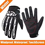 RIGWARL Winter and Autumn Men's and Women Skeleton Bones Motocross Gloves for Cycling Bike Motorcycle