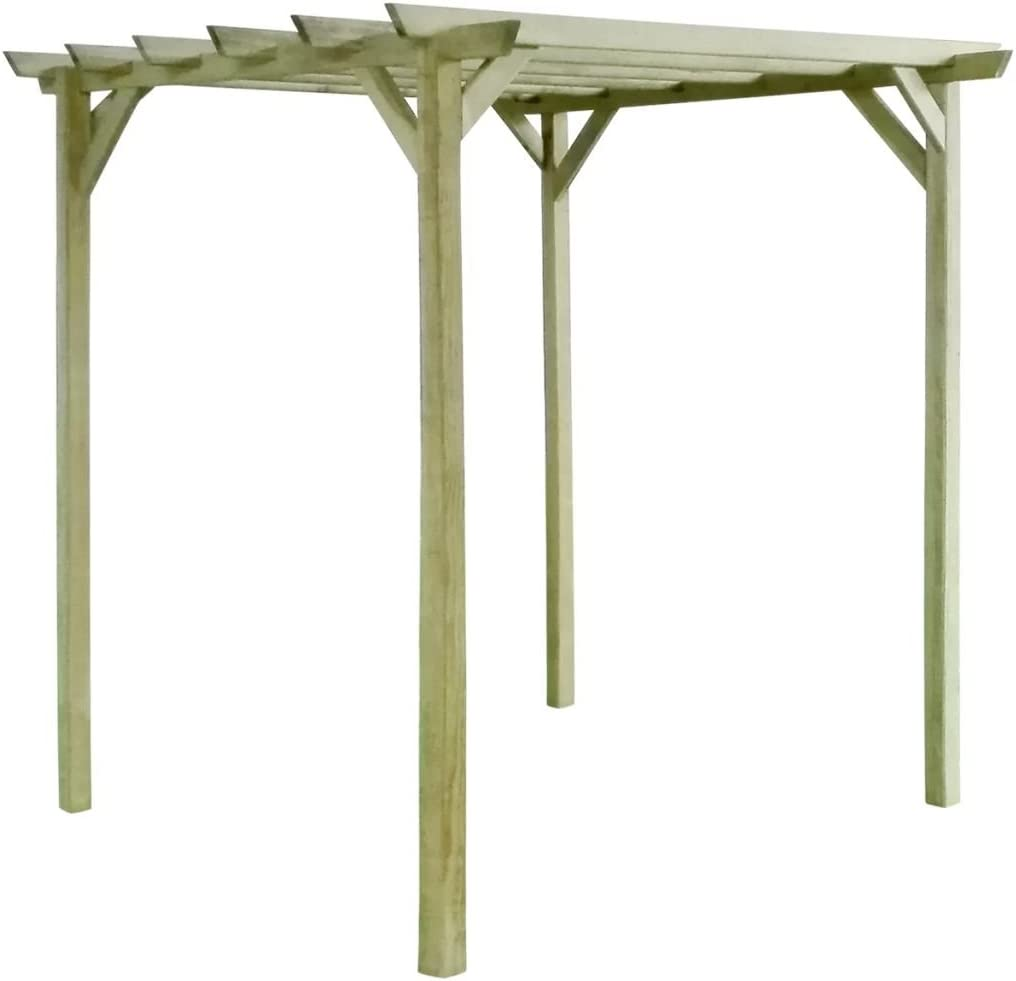 festnight pérgola de jardín Pario (madera de pino impregnar 2 x 2 x 2 m: Amazon.es: Hogar