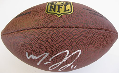 - Marvin Jones, Detroit Lions, Bengals, Cal Bears, Signed, Autographed, NFL Duke Football, a COA with the Proof Photo of Marvin Signing the Football Will Be Included