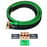 GP Car Audio Big 3 UPGRADE wiring Kit OFHC TRUE 1/0 AWG GAUGE GREEN and BLACK