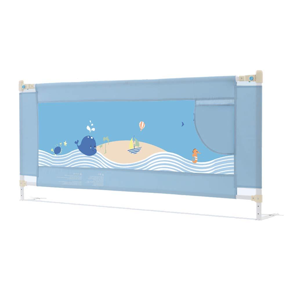 LHA ベッドガードフェンス ベビーチャイルドベッドガードレールベビーベッドサイドリフトフェンス大きなベッドの柵150cm、180cm、200cm * 82cm (色 : 青, サイズ さいず : L-180cm) L-180cm 青 B07HT2DMG9