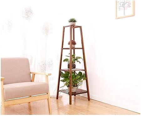 AJZXHE soporte macetas Escalera de flores con soporte de plantas de madera maciza, soporte de exhibición