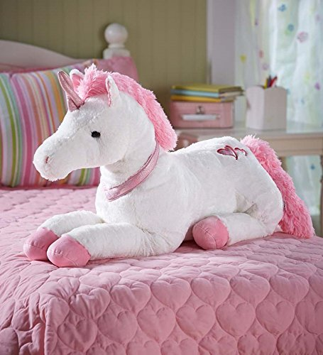- HearthSong® Large Super Soft Plush Dazzle the Unicorn Stuffed Animal