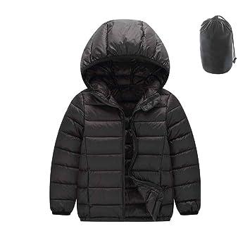 ML Bebé Chaqueta con Capucha de Invierno Abrigo de Abrigo Cálido Impermeable Ligero, Chaquetas Gruesas