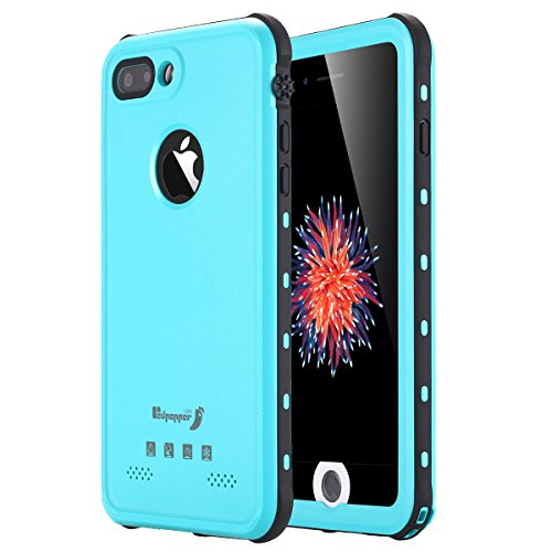 iPhone 8 Plus Waterproof Case, iPhone 7 Plus Waterproof Case, LONTECT IP-68 Waterproof Shockproof Dust Proof Snow Proof Full Body Protective Case Cover for Apple iPhone 8 Plus/7 Plus 5.5 inch - Teal