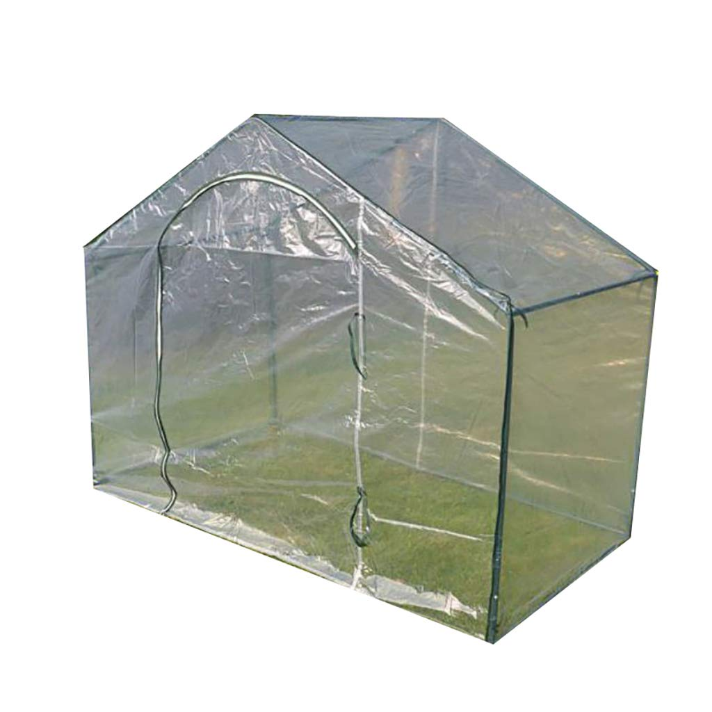 LIZIWS Greenhouse flower house plant germination equipment 1.8x 1m high 1.5m single door anti-freeze steel frame