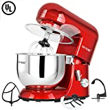 : CHEFTRONIC Stand Mixers SM-986 120V/650W 5.5qt Bowl 6 Speed Kitchen Electric Mixer Machine