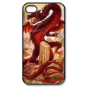 Hard Shell Case Of Red Dragon Customized Bumper Plastic case For Iphone 4/4s