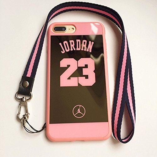 new products 523ff 9c412 iPhone 7 Plus and 8 Plus Jordan 23 Case,Reflective Mirror Case Jumpman  Cover with Soft Neck Lanyard.Shockproof Resistant Case for iPhone 7 Plus  and 8 ...