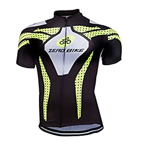 ZEROBIKE® Men's Cycling Short Sleeve Jersey Comfortable Breathable Shirts Sportswear Clothing Bike Top Quick Dry