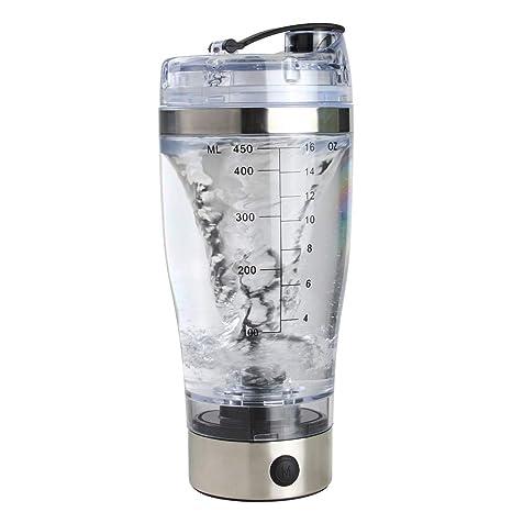 Pinacis Proteínas Shaker Botella Agitador Eléctrico Proteínas 450ML Automático Batidora Proteínas Coctelera Botella Gimnasio para Jugo