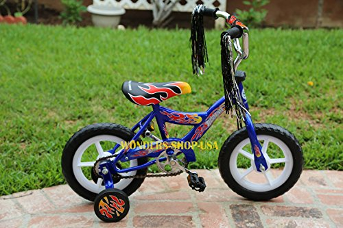 """Brand New 12"""" Bike Bicycle with Trainning Wheels for Kids Children BLUE Color"""