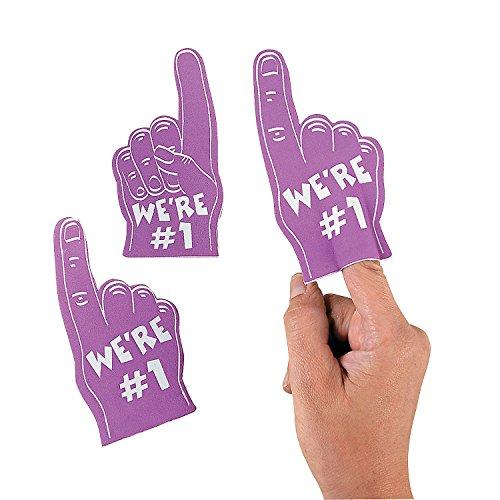 Fun Express - Purple Mini Foam Fingers - Toys - Value Toys - Misc Value Toys - 12 Pieces -