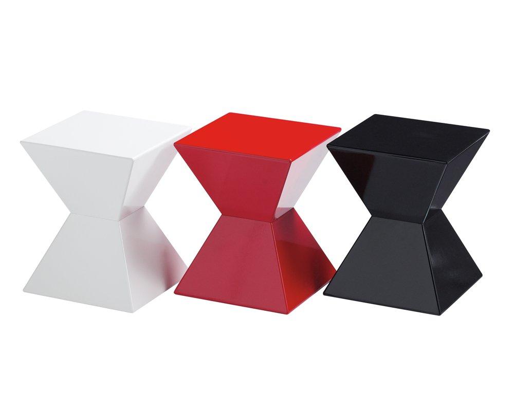 Sunpan Modern Rocco End Table, White