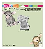 Stampendous House Mouse Cling Rubber Stamp 4''X3.5'' Sheet -Santa Mouse by Stampendous