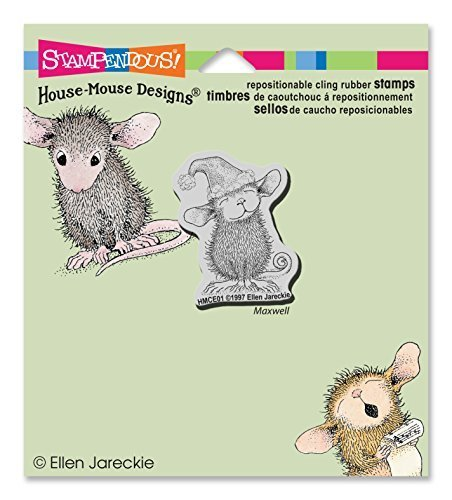 Stampendous House Mouse Cling Rubber Stamp 4''X3.5'' Sheet -Santa Mouse by Stampendous by STAMPENDOUS
