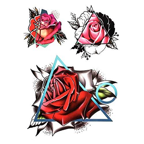 (1 Piece Temporary Tattoo Sticker Black Roses Design Full Flower Arm Body Art Big Large Fake Tattoo Sticker,3D-T7)