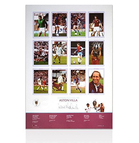 Dennis Mortimer Aston Villa Signed European Cup Kings 1982 Poster Autograph - Autographed Soccer Photos