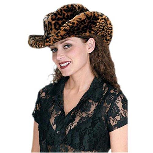 [Adult Ladies Leopard Cowboy Hat] (Leopard Cowboy Hat)