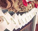 Advent Calendar Muslin 3×5 Gift Bags – Set of 25 Bags