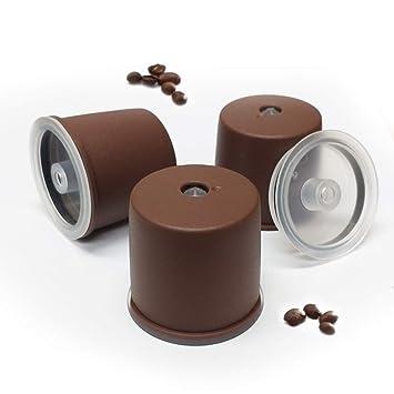 Kuner illy - Cápsulas recargables compatibles con la máquina de café Illy, color marrón 3_counts: Amazon.es: Hogar
